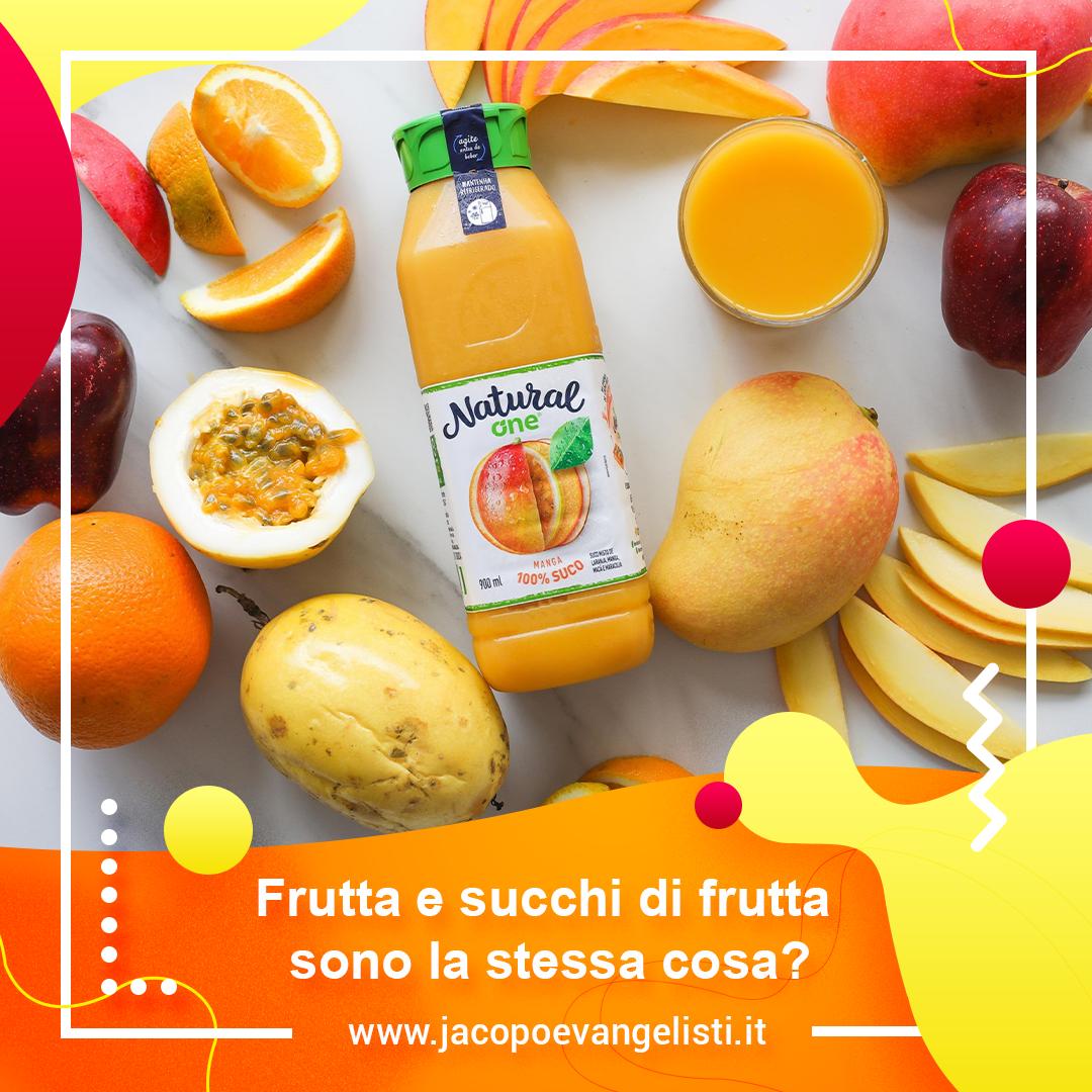 Frutta e succhi di frutta sono la stessa cosa?